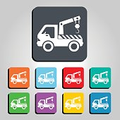 Tow Truck Icon Vector Illustration