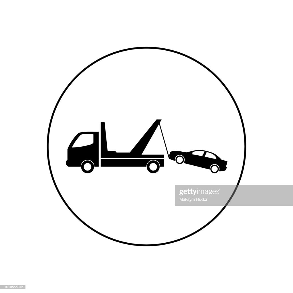 Tow Truck vector icon