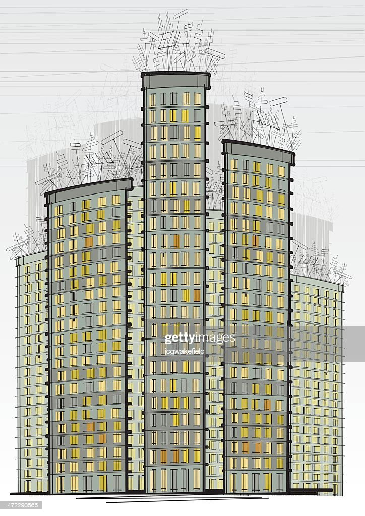 Tower Blocks with TV Aerials