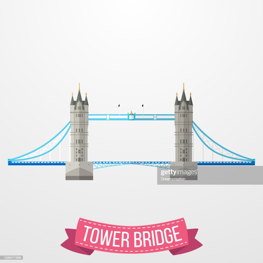 Tower Bridge icon on white background