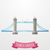 Tower Bridge icon on white background