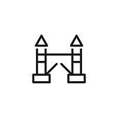 Tower bridge line icon