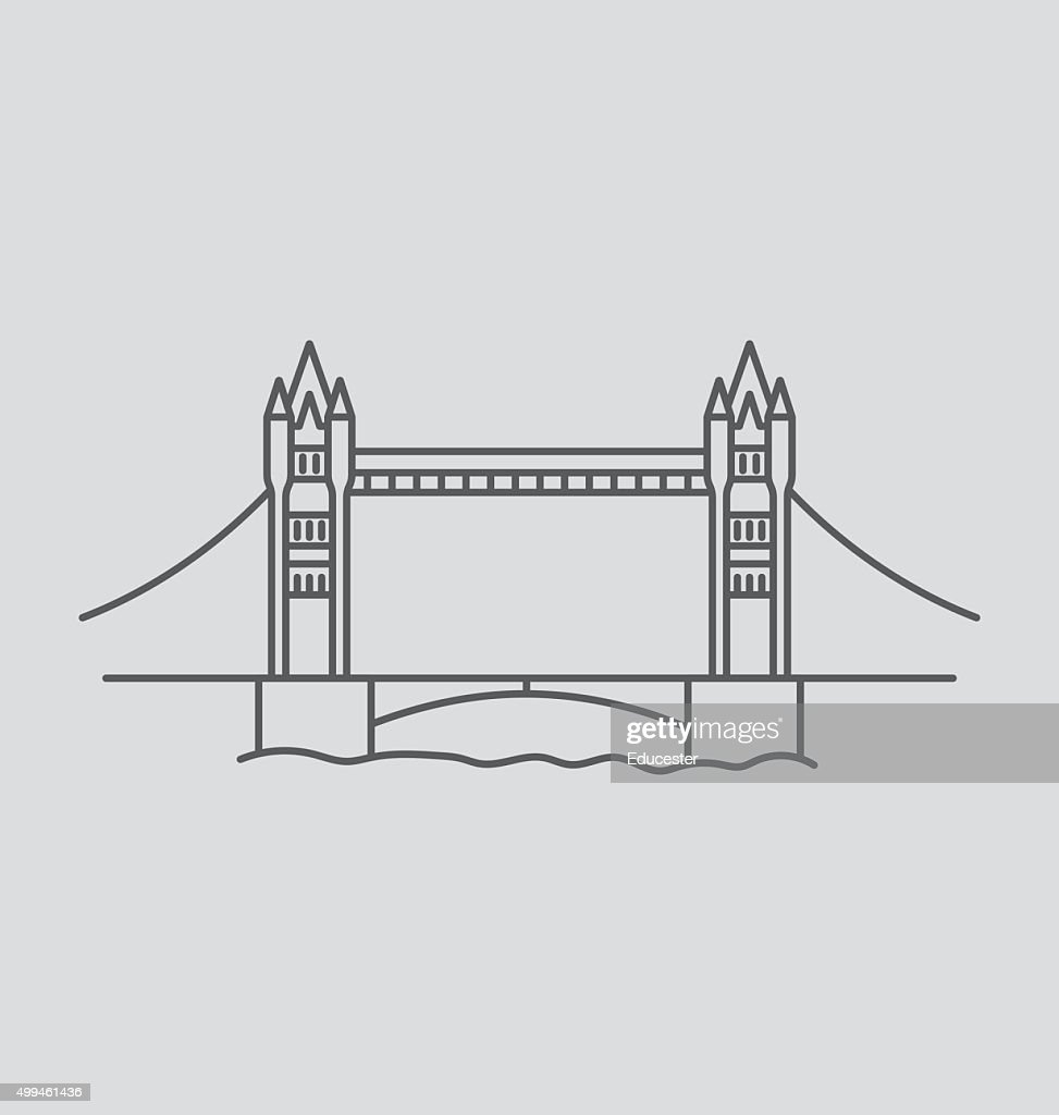 Tower Bridge line Illustration