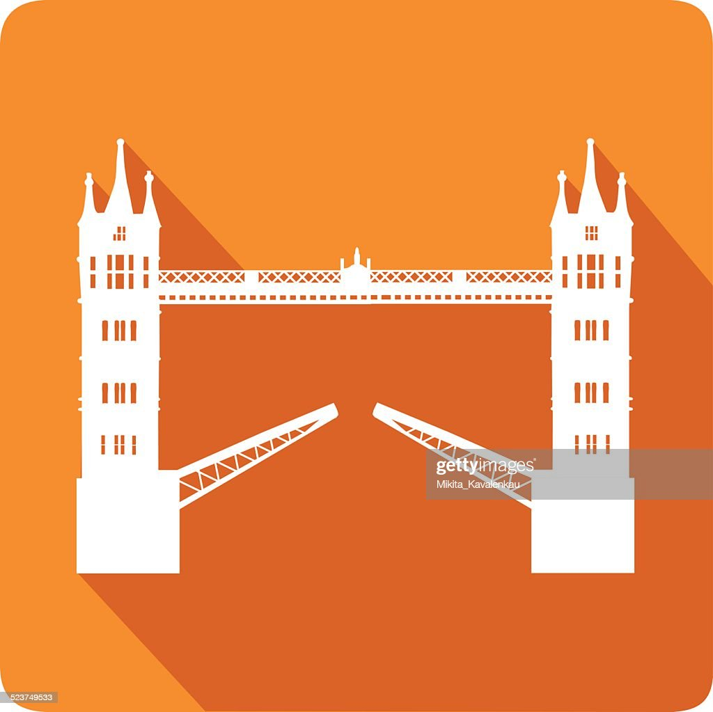 Tower Bridge, vector illustration