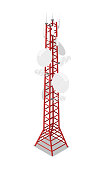 TV tower isometric 3D icon