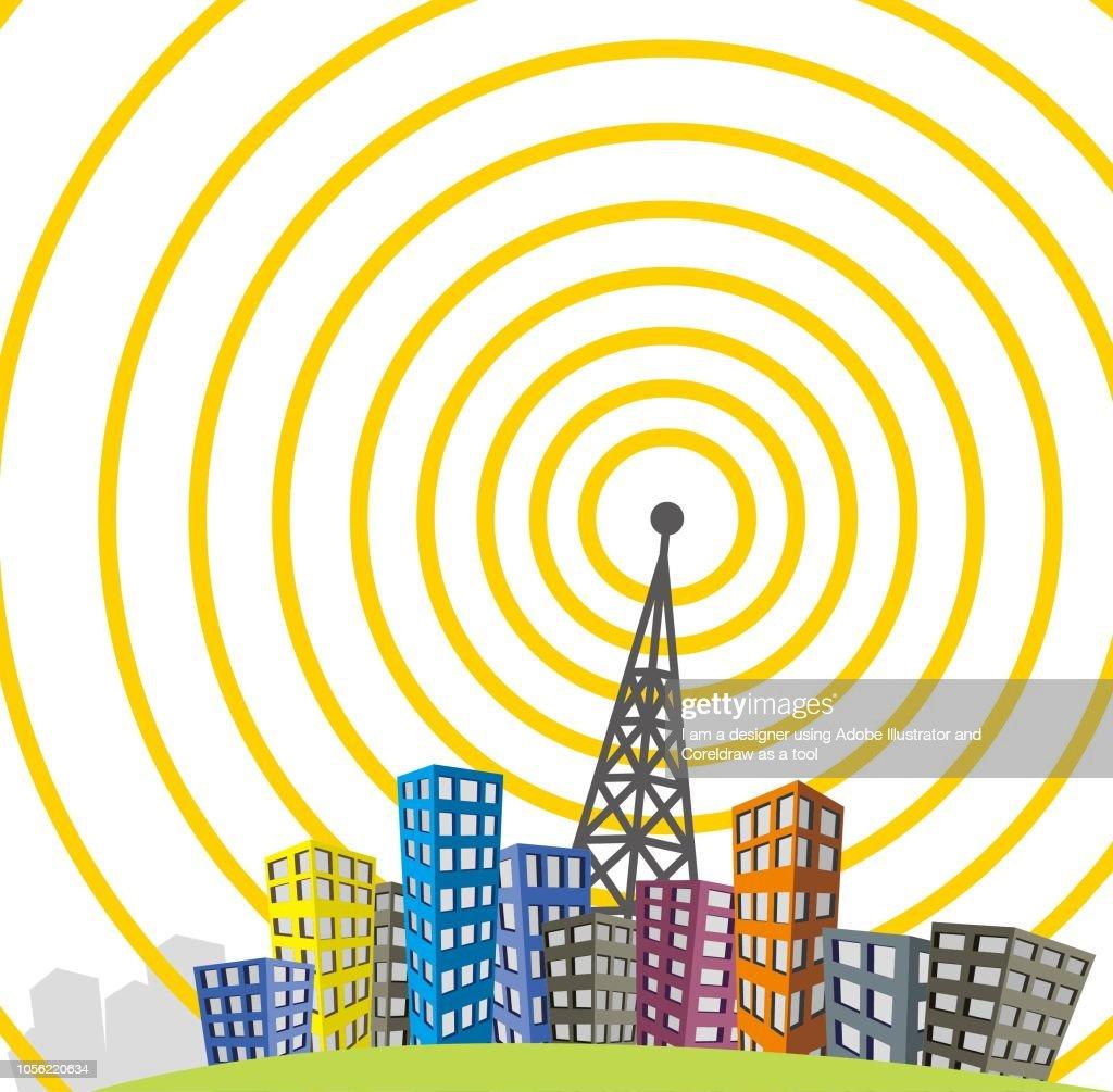 tower transmitter vector illustration