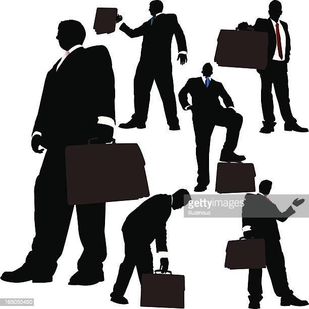 ilustraciones, imágenes clip art, dibujos animados e iconos de stock de torre de maletín empresarios serie - vista de ángulo bajo