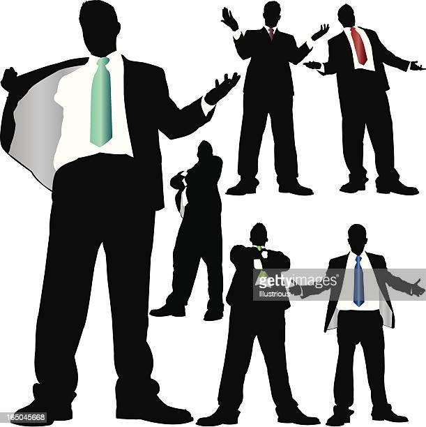 Towering Businessman Attitude Series