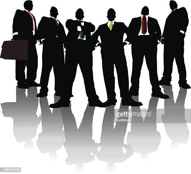 高くそびえるビジネスマンシャドーシリーズ - 腰に手を当てる点のイラスト素材/クリップアート素材/マンガ素材/アイコン素材