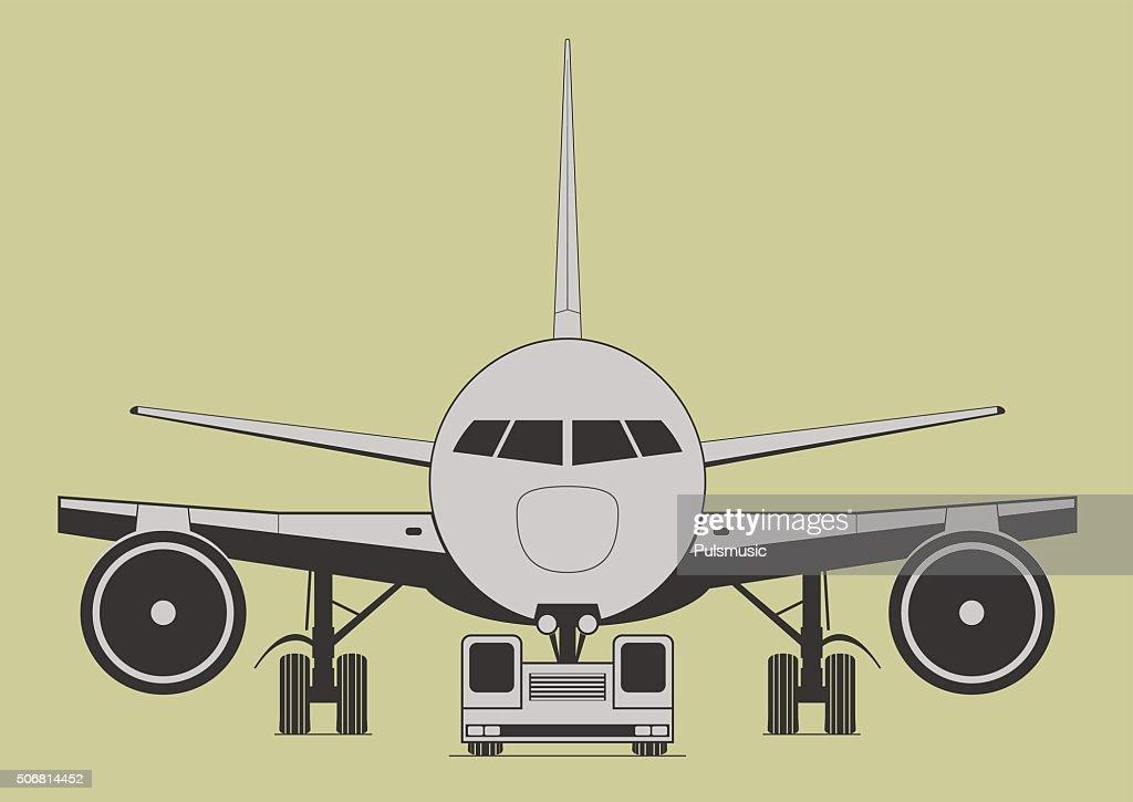 Towing aircraft