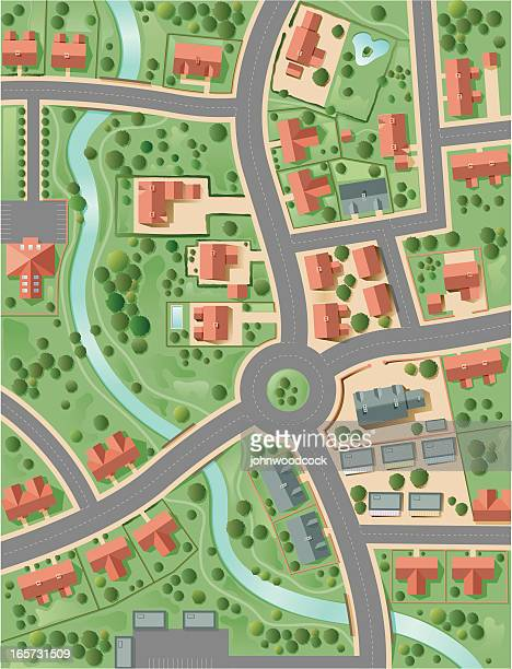town plan - town stock illustrations