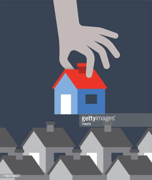 townhouse immobilienmakler hausbesitzer homebuyer concept - gewerbeimmobilie stock-grafiken, -clipart, -cartoons und -symbole