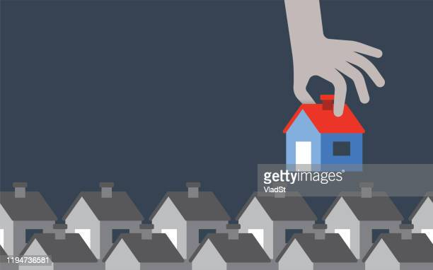 townhouse real estate agent homeowner homebuyer copy space background - mortgage loan stock illustrations