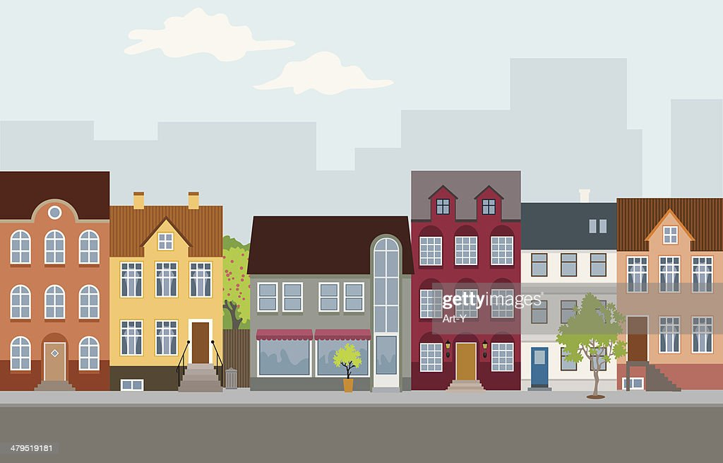 Townhouses : Stock Illustration