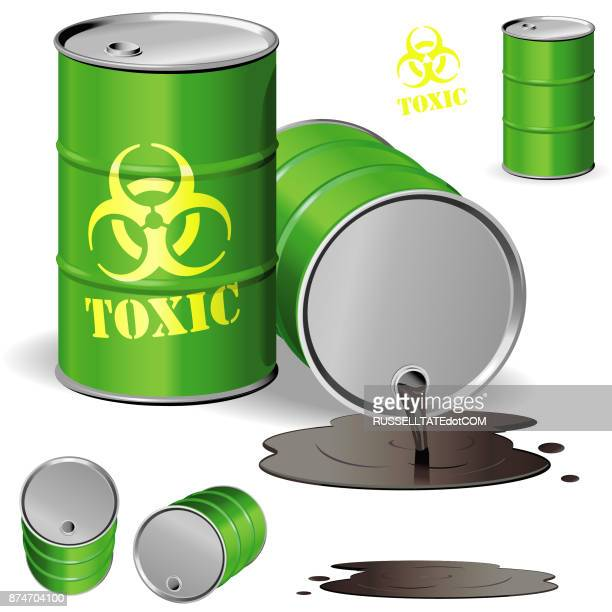 toxic drum - puddle stock illustrations, clip art, cartoons, & icons