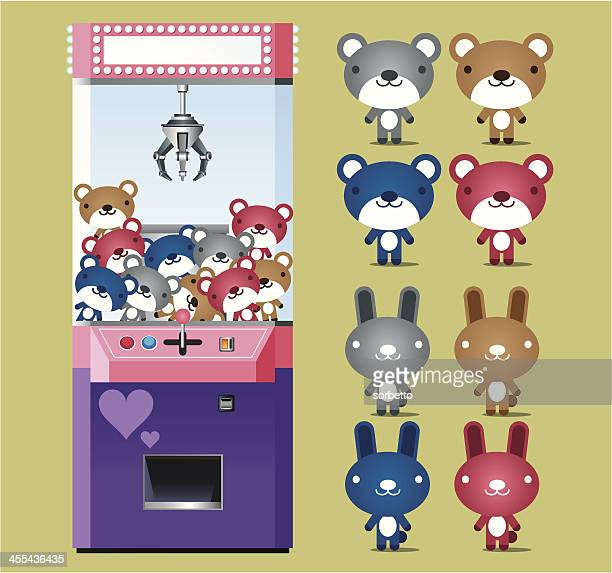 toy claw machine - claw stock illustrations, clip art, cartoons, & icons