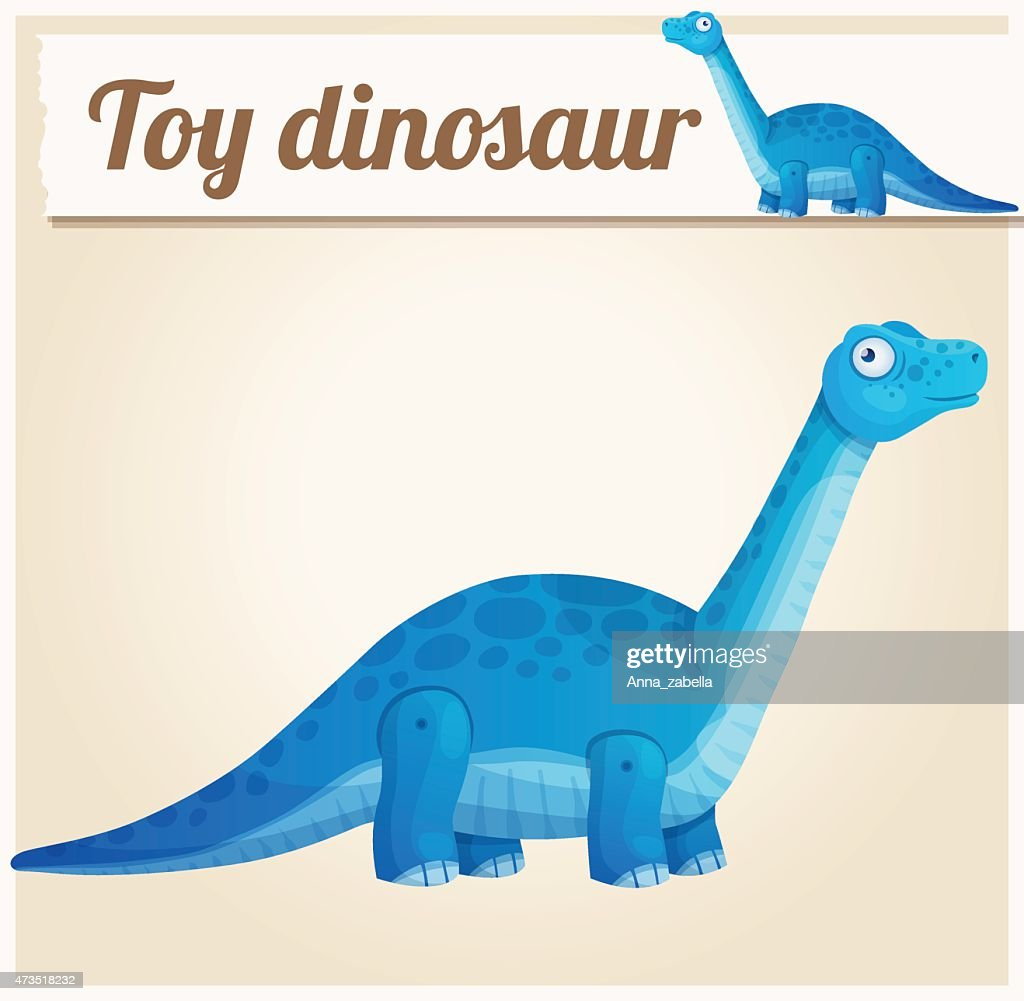 Toy dinosaur 2. Cartoon vector illustration. Series of children's