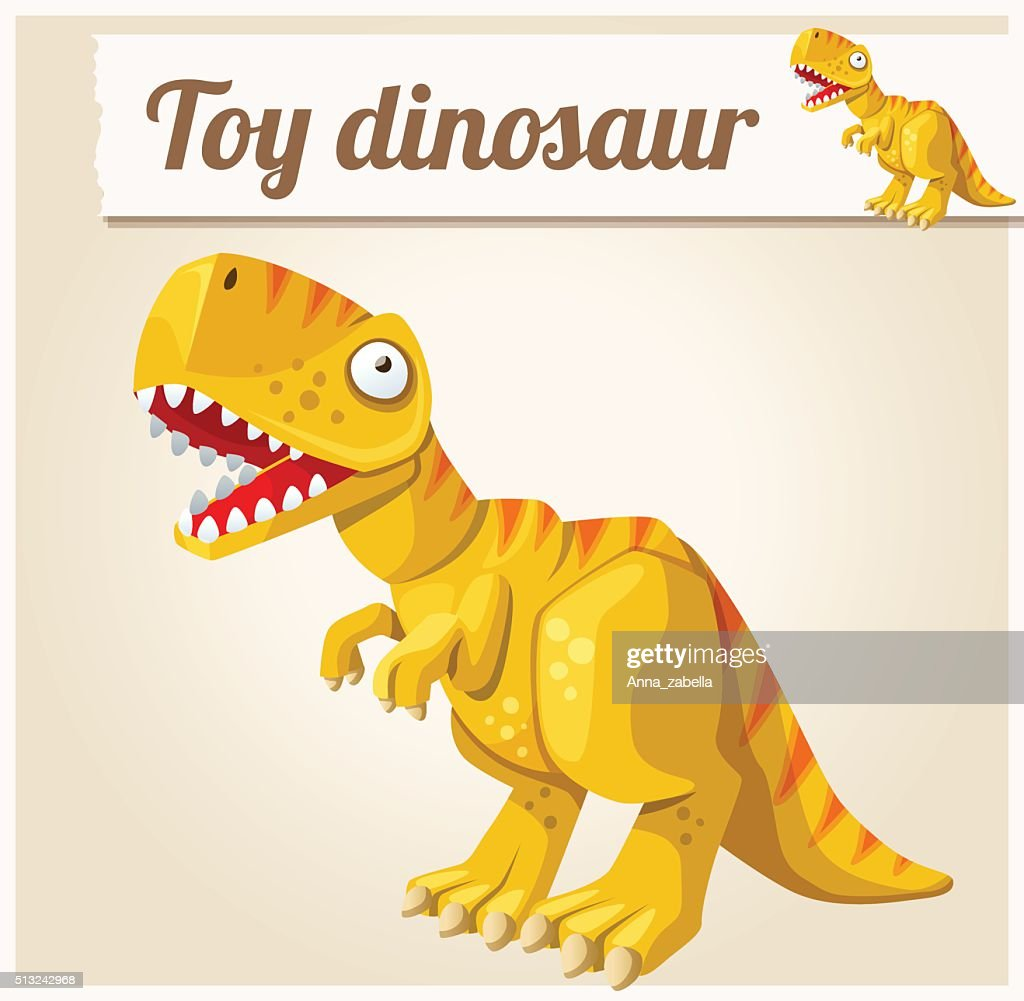 Toy dinosaur. Cartoon vector illustration. Series of childrens toys