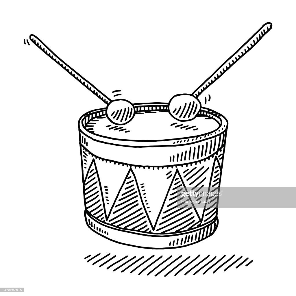 Toy Drum Musical Instrument Drawing