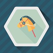 toy horse flat icon with long shadow,eps10