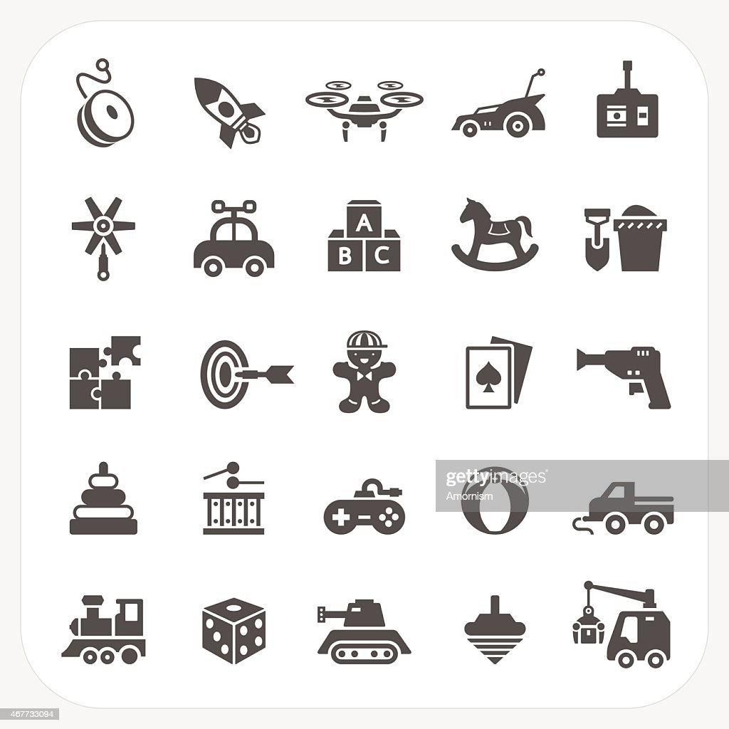 Toy icons set