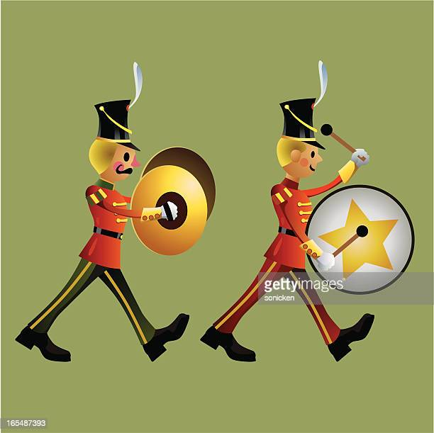 toy soldier army band set c - army soldier toy stock illustrations