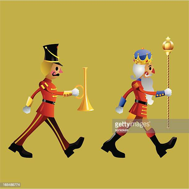 toy soldiers army band set a - parade stock illustrations