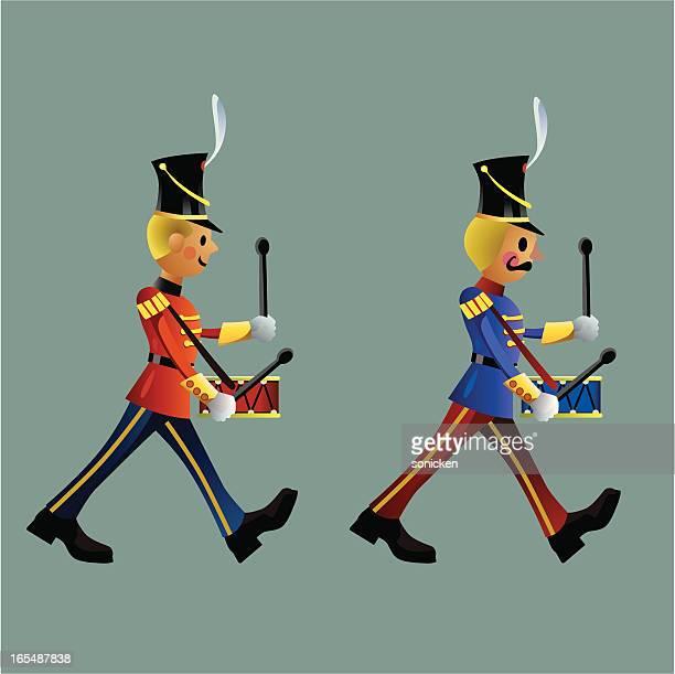 ilustrações de stock, clip art, desenhos animados e ícones de exército masculino de soldados de brinquedo conjunto b - desfile