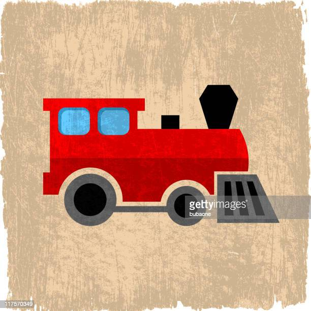 toy train on royalty free vector background - miniature train stock illustrations, clip art, cartoons, & icons