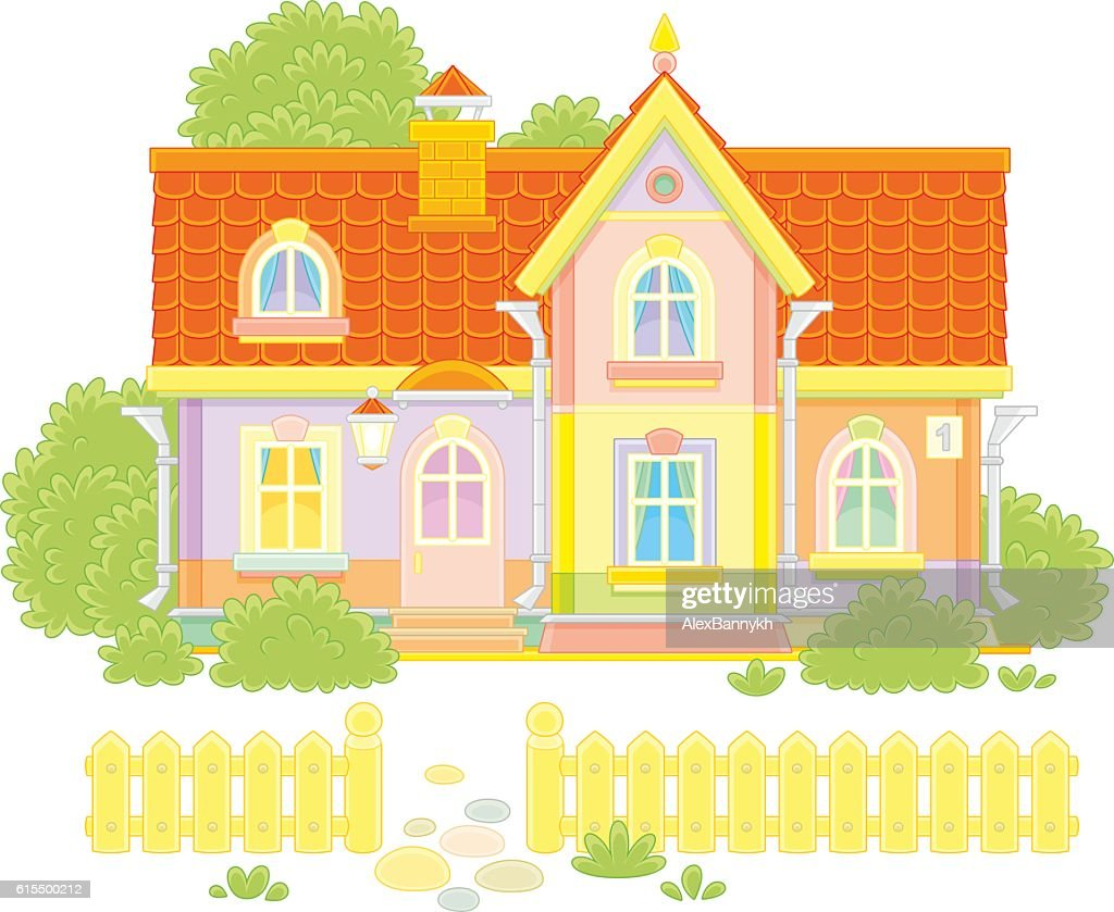 Toy village house