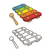 Toy xylophone illustration