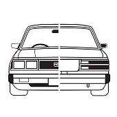 Toyota Corona Car Outline Art