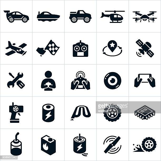 rc toys icons - air vehicle stock illustrations, clip art, cartoons, & icons