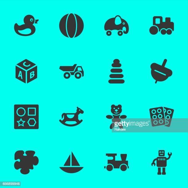 bildbanksillustrationer, clip art samt tecknat material och ikoner med leksaker ikoner - duck