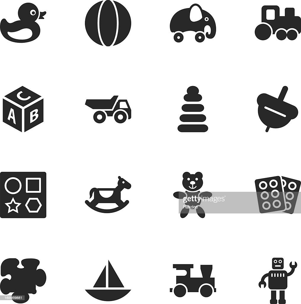 Toys Silhouette Icons