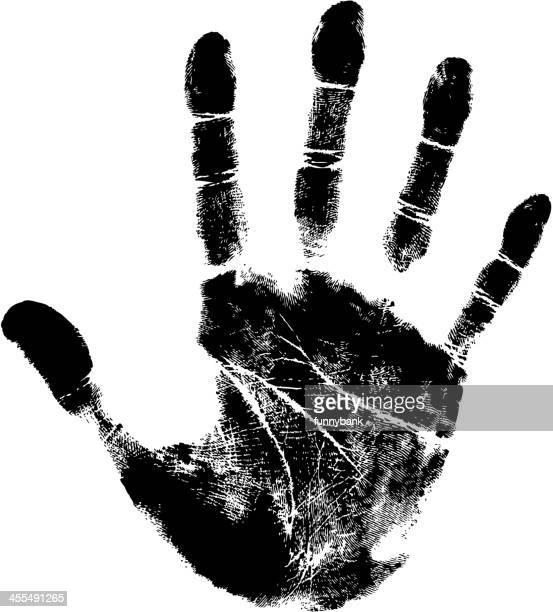 ilustraciones, imágenes clip art, dibujos animados e iconos de stock de trazado de mano - huella de mano