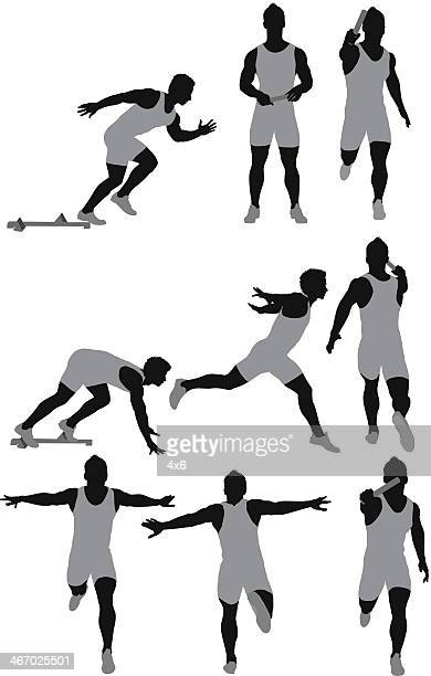 Track and field athlete in action