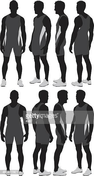 track and field athlete - athlete stock illustrations