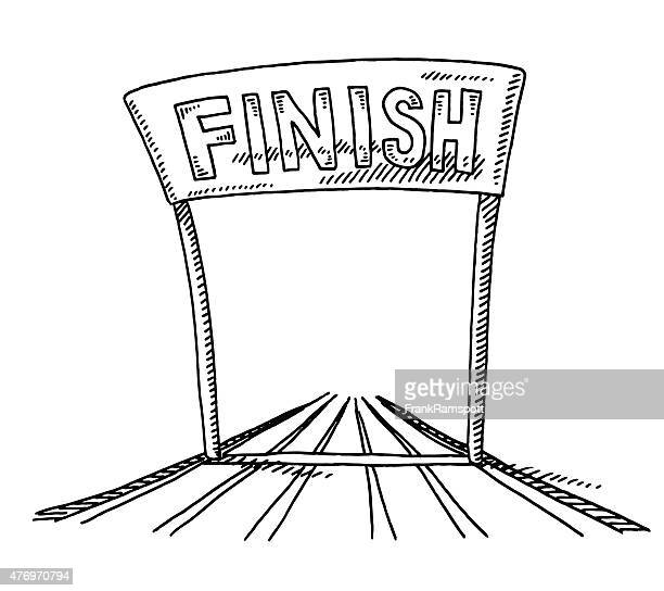 Track And Field Finish Line Drawing