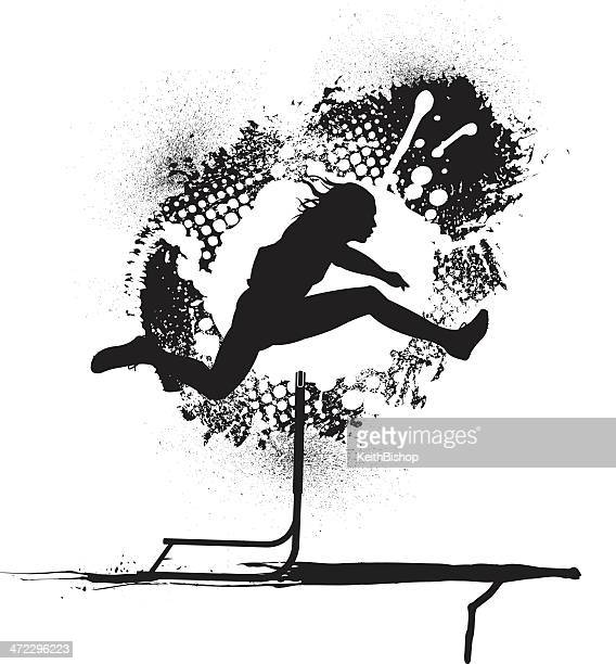 Track and Field Hurdler Grunge Graphic - Male