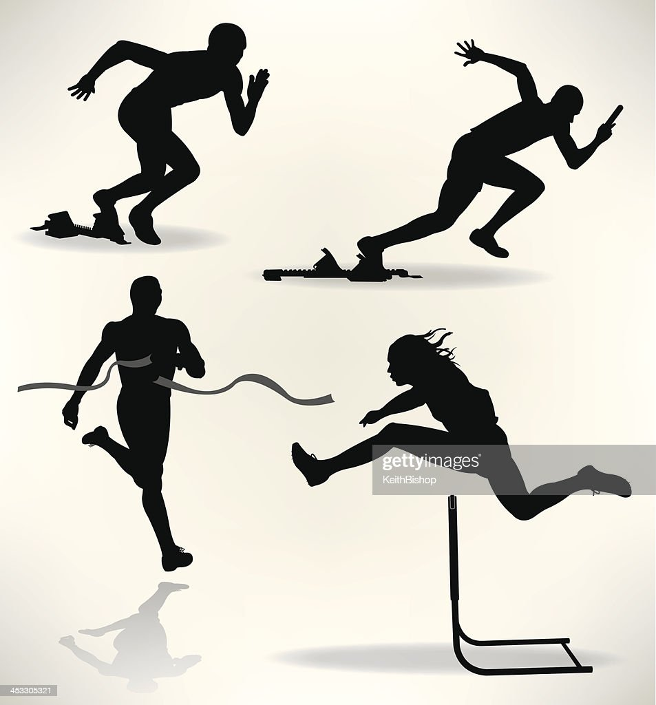 Track And Field Runners Sprinter Stock Vector Getty Images
