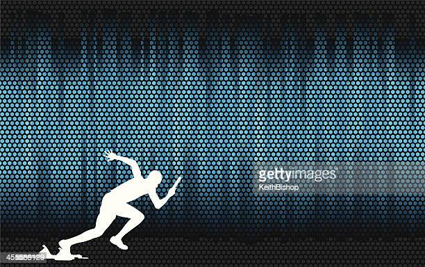 track & field relay runner or sprinter background - track and field stock illustrations, clip art, cartoons, & icons
