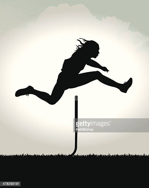 track meet - hurdler background - hurdle stock illustrations