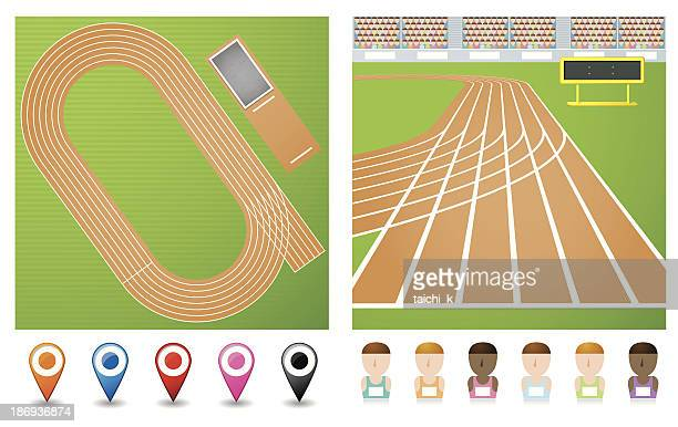 track - track and field stock illustrations, clip art, cartoons, & icons