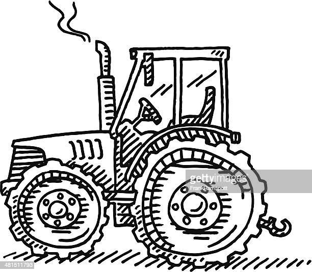 Tractor Agriculture Machine Drawing