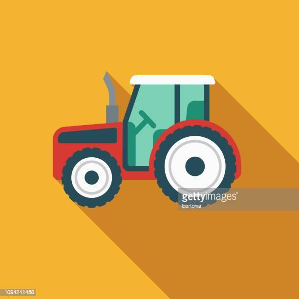 stockillustraties, clipart, cartoons en iconen met trekker kinder speelgoed pictogram - tractor