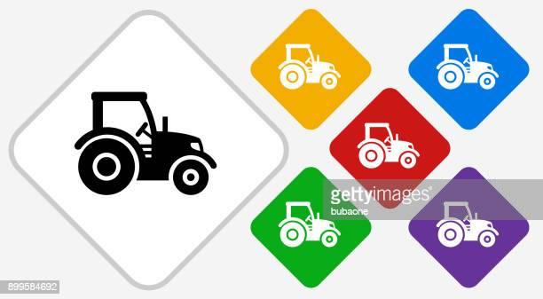 Tractor Color Diamond Vector Icon