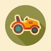 Tractor icon. Farmer machine