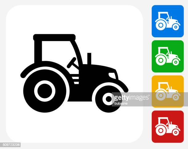 tractor icon flat graphic design - tractor stock illustrations