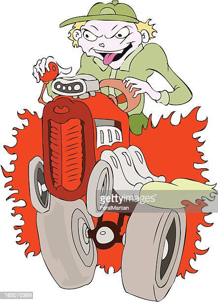 tractor pull - supercharged engine stock illustrations, clip art, cartoons, & icons